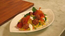 Polpettine di Agnello con Couscous di Verdure
